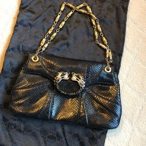 Python Gucci jeweled bag - vintage and perfect!